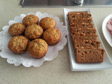 Muffins et pain aux bananes maison